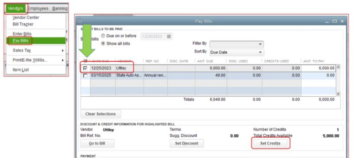 How To Apply Credit To Bill in QuickBooks