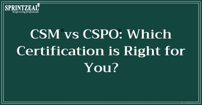 Which Course Should I Take CSM or CSPO